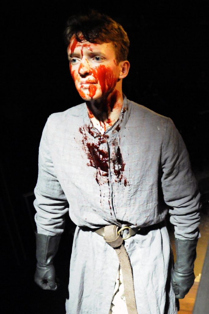 Macbeth, special effects makeup (photo by Dale Peterson 2017)
