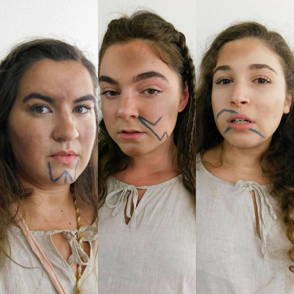 Macbeth Witches, Makeup Design (photo by Alayna Riley)