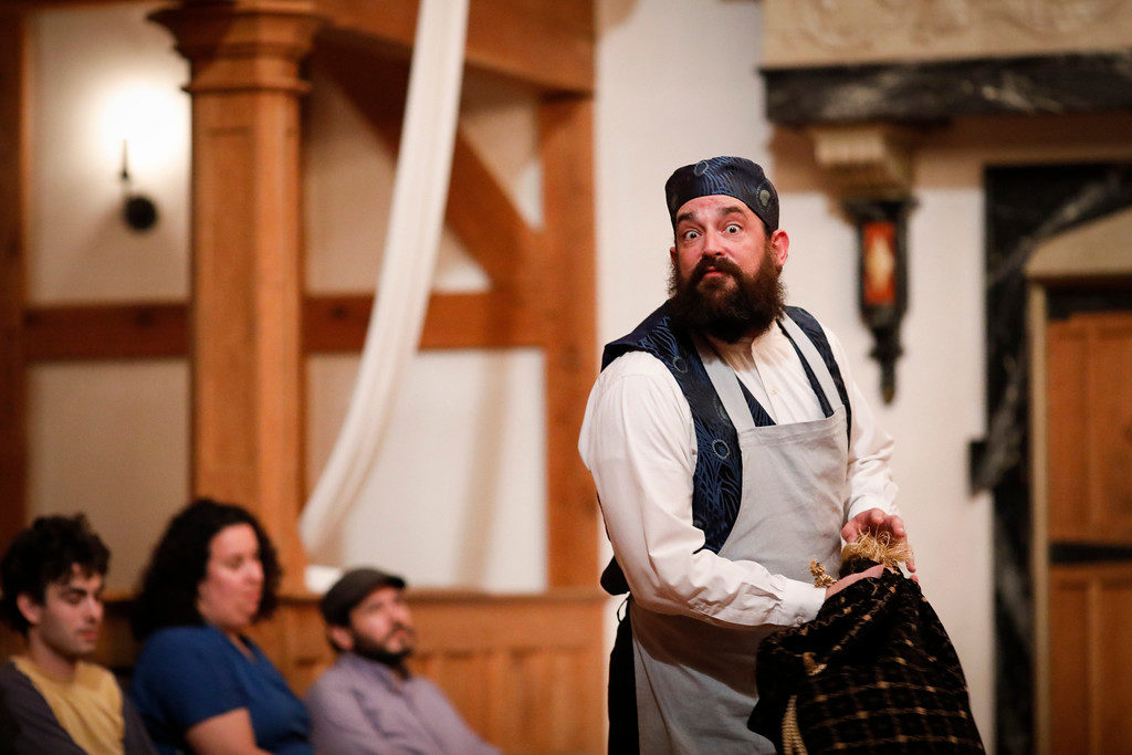 Cut and put together hat and vest. The Man of Mode, The American Shakespeare Center. Photo by Lindsey Walters