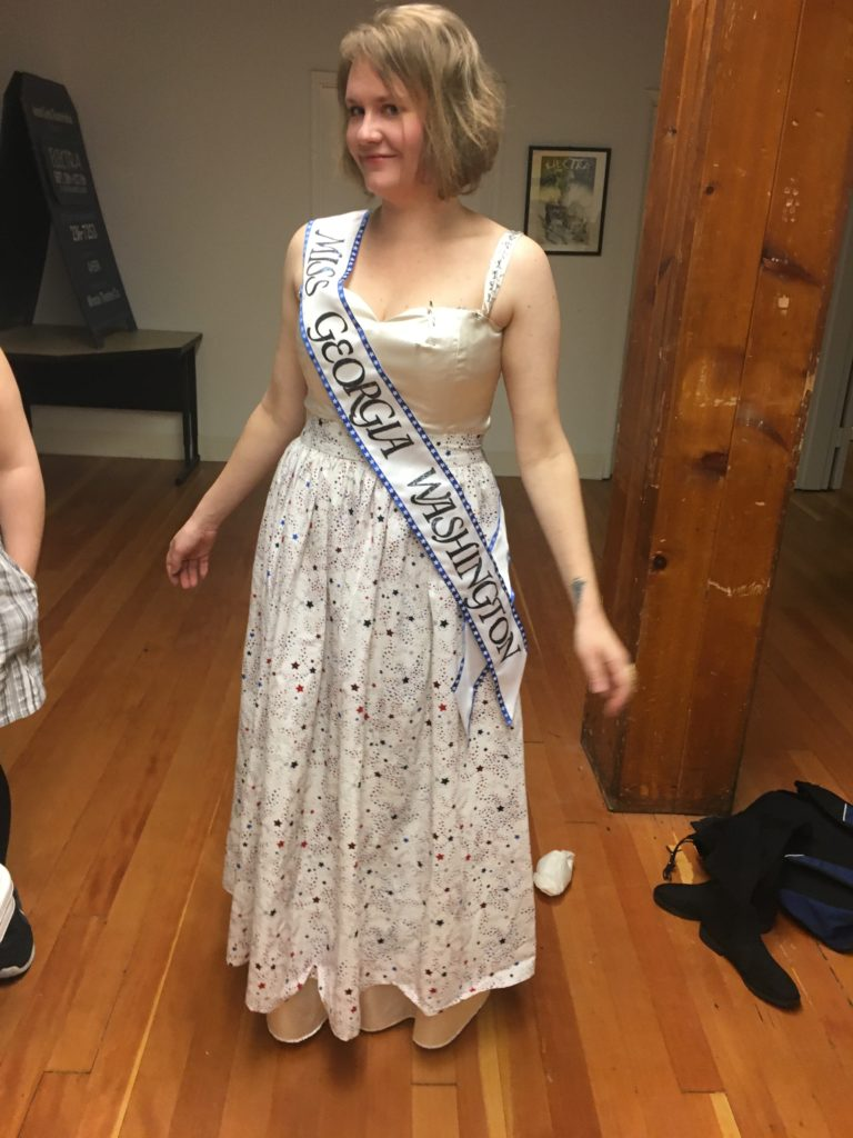 Second fitting, October 16 2018, McKenna Twedt as Katherine in The Taming