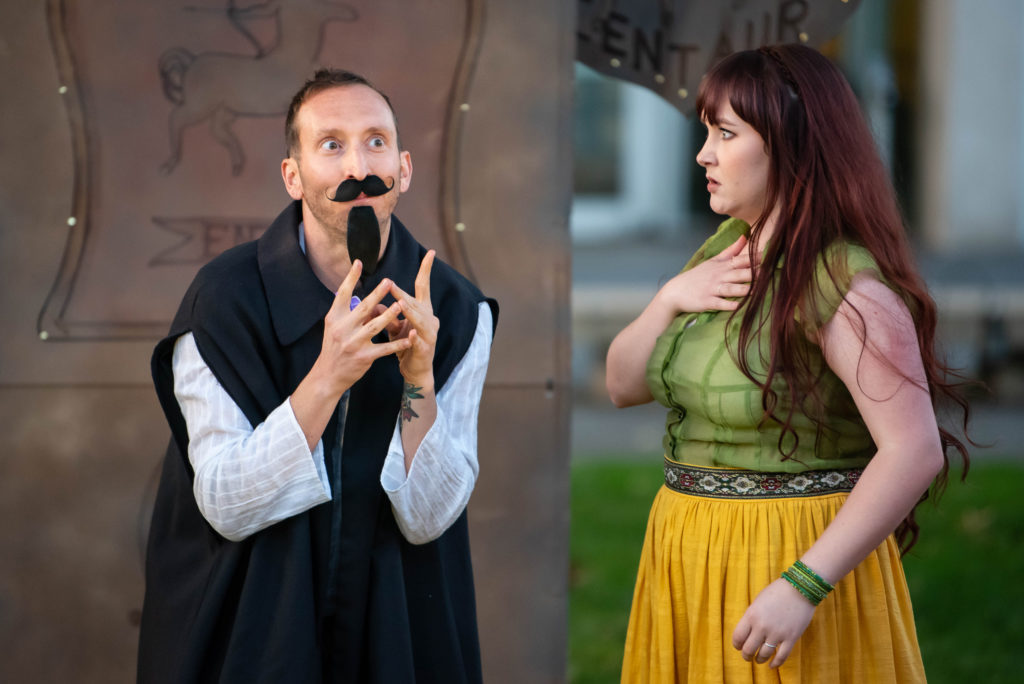 Adam Roper, Sarah Aldrich. The Comedy of Errors (Experience Theatre ProjectCasey Campbell Photography.