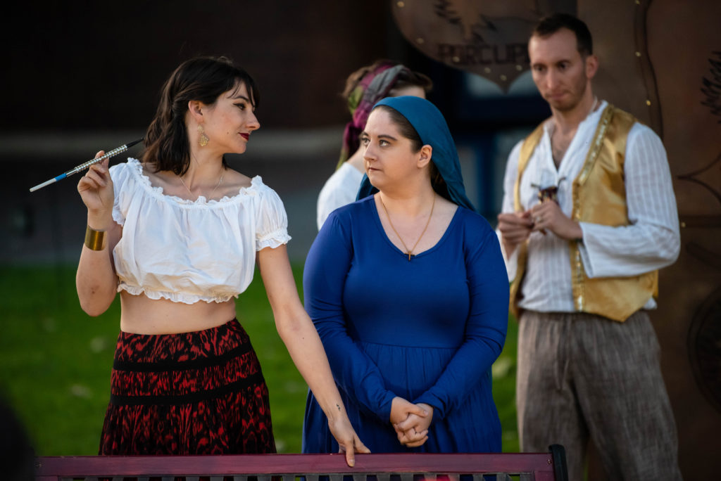 Leslie Viemeister, Bobbi Kaye Kupfner, Adam Roper. The Comedy of Errors (Experience Theatre ProjectCasey Campbell Photography.