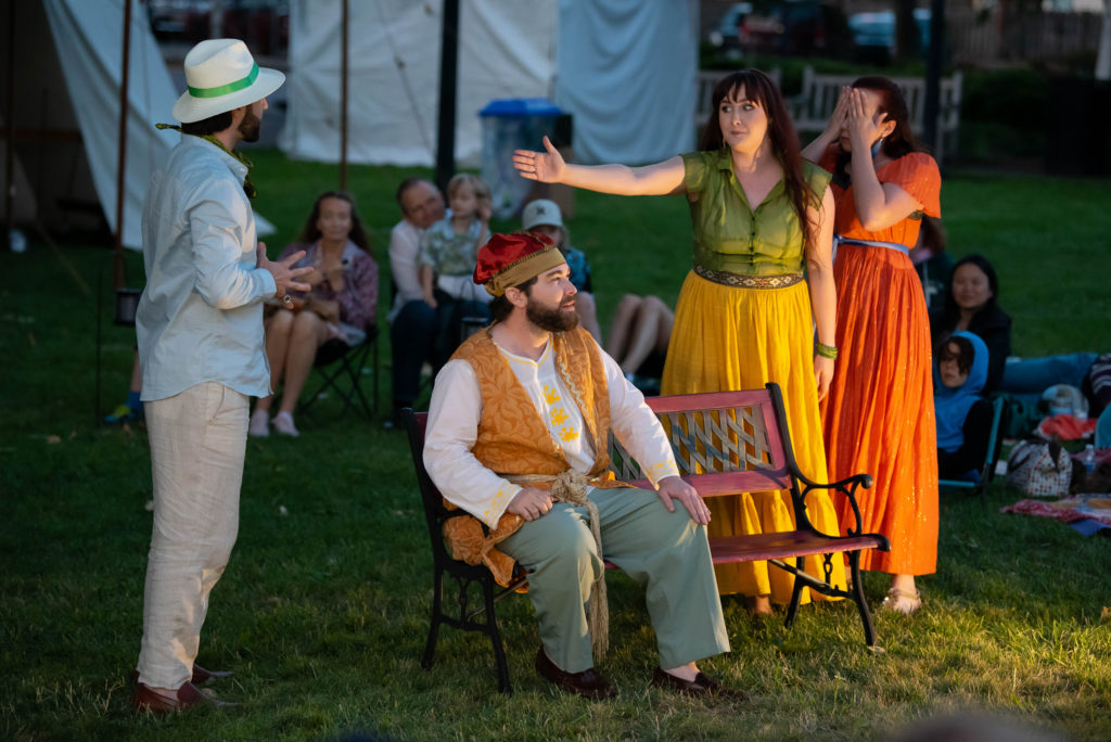 Walter Petryk, Ryan Pfeiffer, Sarah Aldrich, Hannah Lauren Wilson. The Comedy of Errors (Experience Theatre ProjectCasey Campbell Photography.