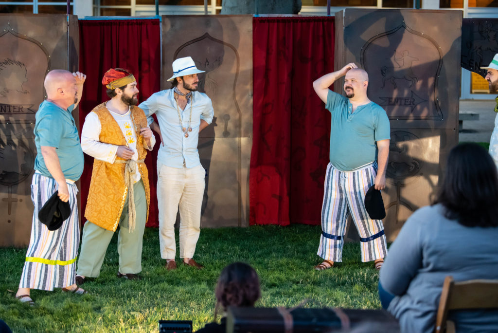 Neil Wade Freer, Ryan Pfeiffer, Ty Hendrix, Steven Grawrock. The Comedy of Errors (Experience Theatre ProjectCasey Campbell Photography.