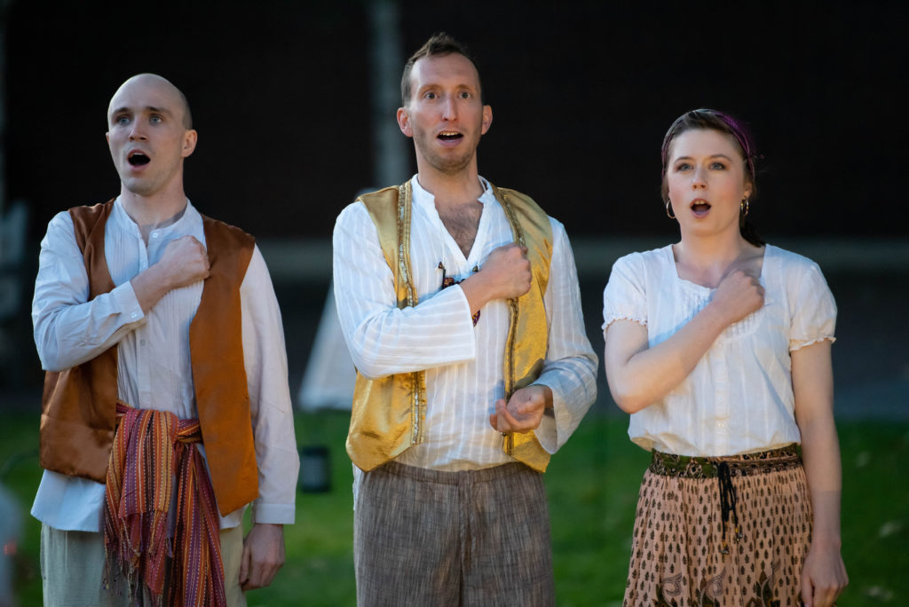Joey Kelly, Adam Roper, Jena Viemeister. The Comedy of Errors (Experience Theatre ProjectCasey Campbell Photography.