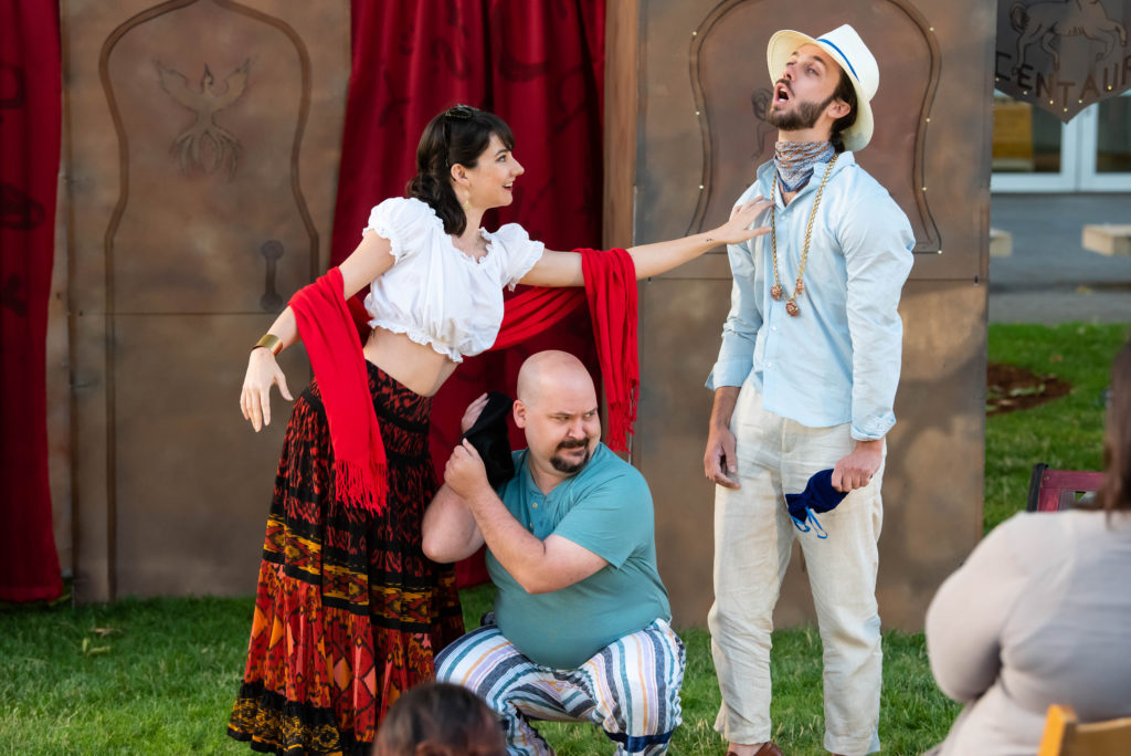 Leslie Viemeister, Steven Grawrock, Ty Hendrix. The Comedy of Errors (Experience Theatre ProjectCasey Campbell Photography.