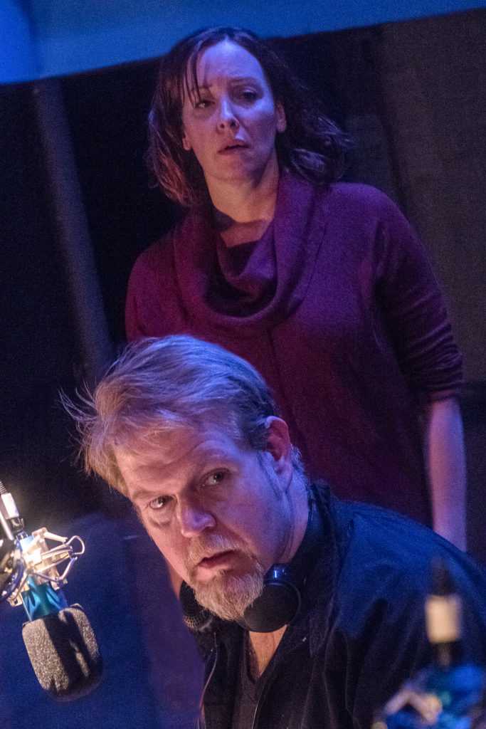 Christy Bigelow, Todd Van Voris. Pontypool (CoHo 2019). Photo by Owen Carey.