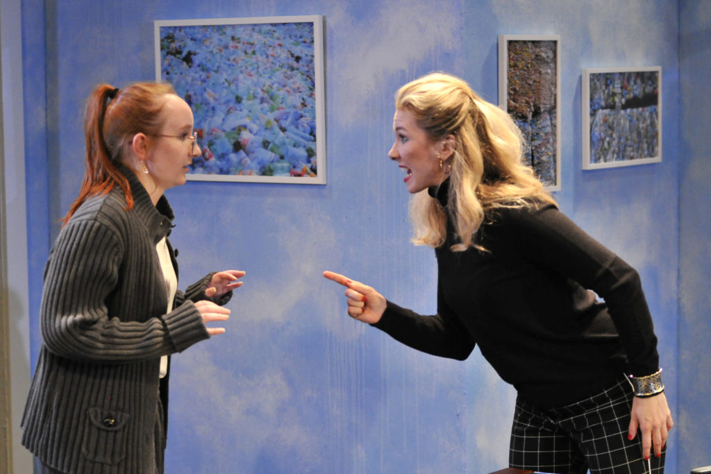 Fiona Jenkins, Chelsea Janzen. Burst (Theatre 33 2019). By Dale Peterson http://www.dalempeterson.com
