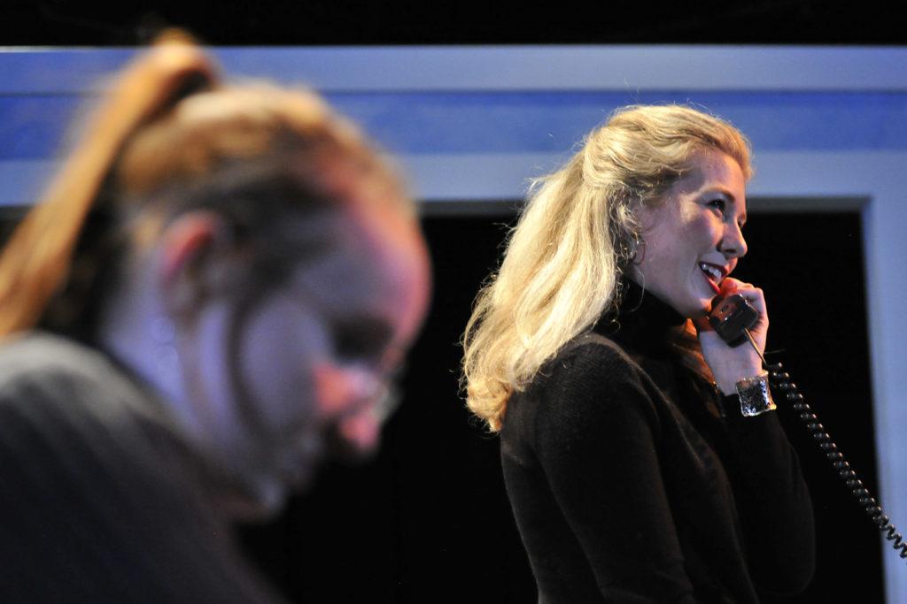 Chelsea Fiona Jenkins, Chelsea Janzen. Burst (Theatre 33 2019). By Dale Peterson www.dalempeterson.com