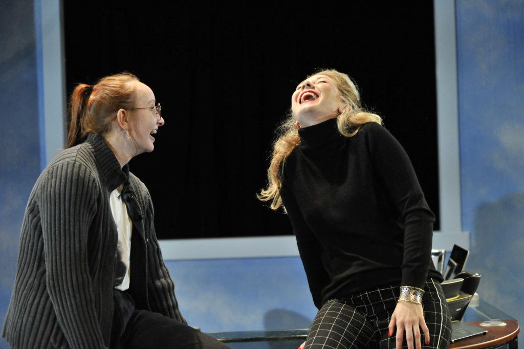 Fiona Jenkins, Chelsea Janzen. Burst (Theatre 33 2019). By Dale Peterson www.dalempeterson.com