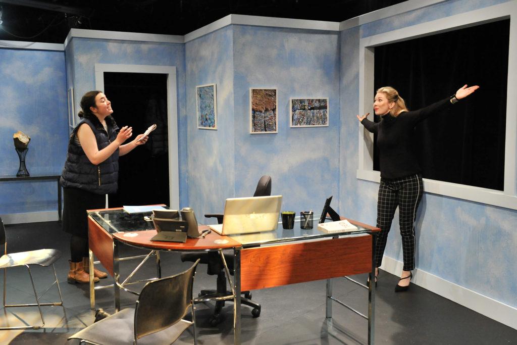 McKenzie Potter-Moan, Chelsea Janzen. Burst (Theatre 33 2019). By Dale Peterson www.dalempeterson.com