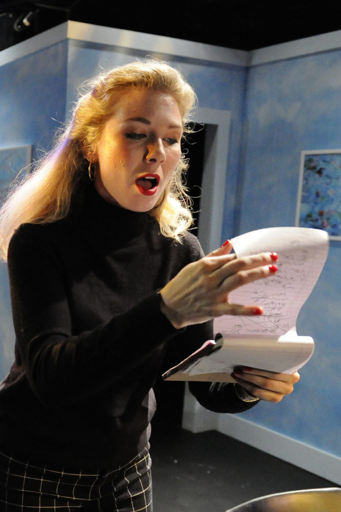 Chelsea Janzen. Burst (Theatre 33 2019). By Dale Peterson www.dalempeterson.com